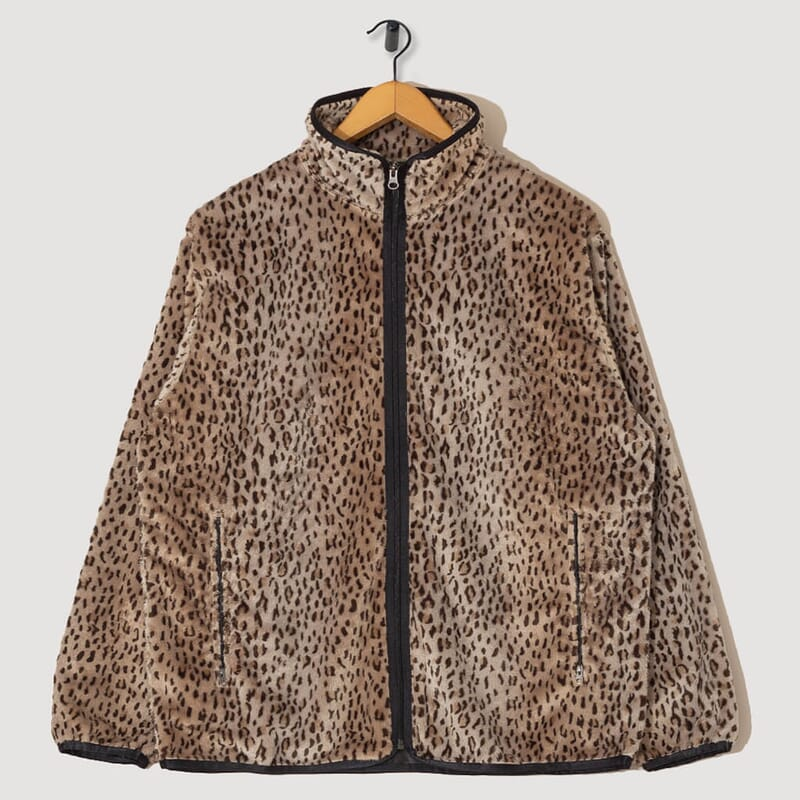 Piping Jacket Faux Fur - Leopard
