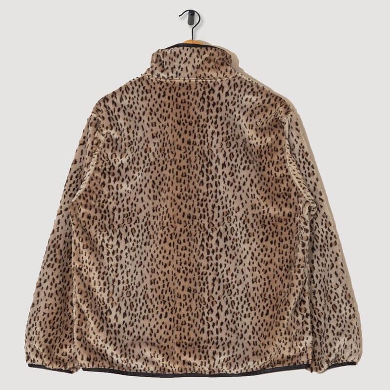 <Piping Jacket Faux Fur - Leopard