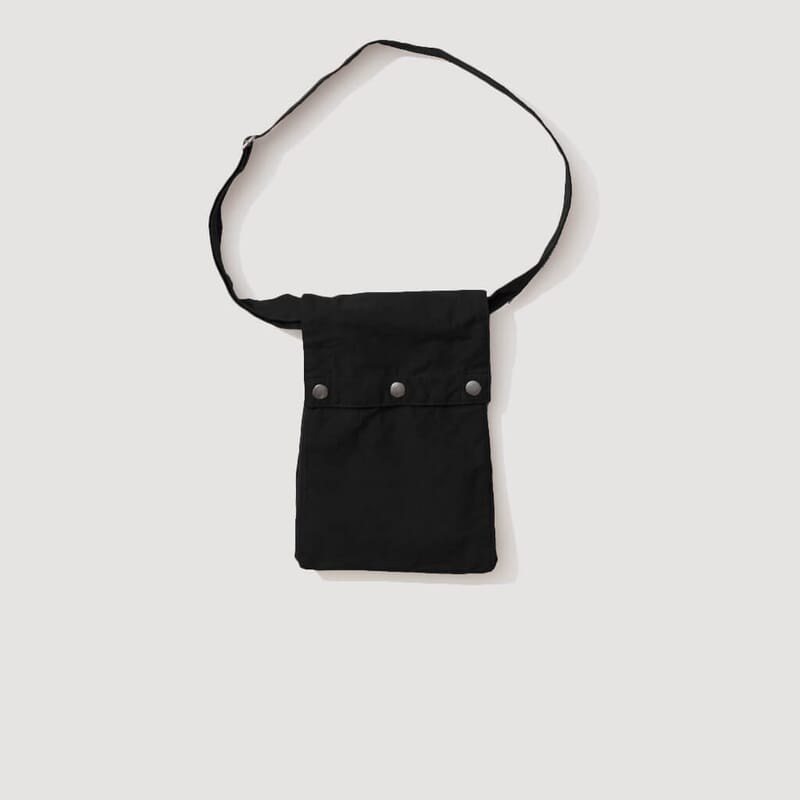 Pouch Bag Washed Cotton - Black