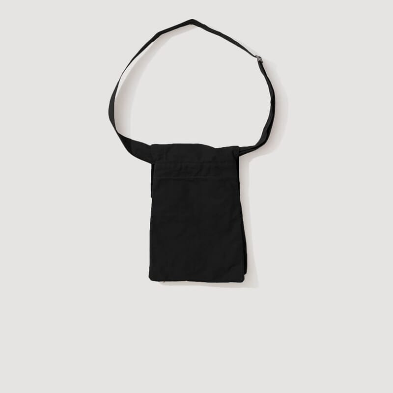 <Pouch Bag Washed Cotton - Black