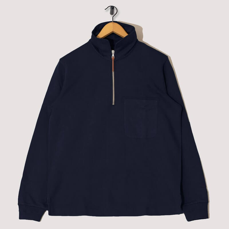 Quarter Zip Pullover - Navy