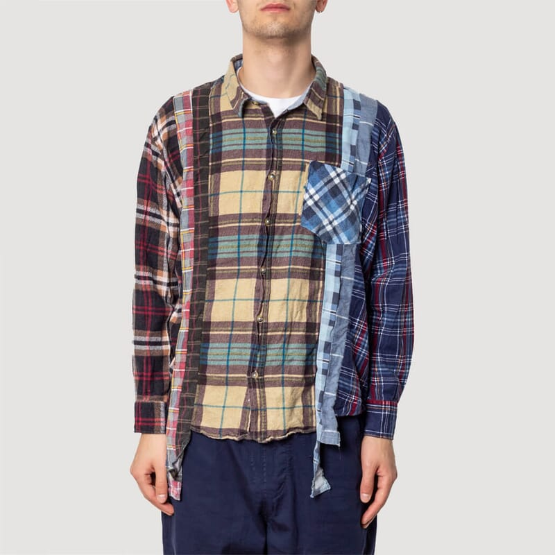 <Rebuild By Needles Flannel Shirt - 7 Cuts