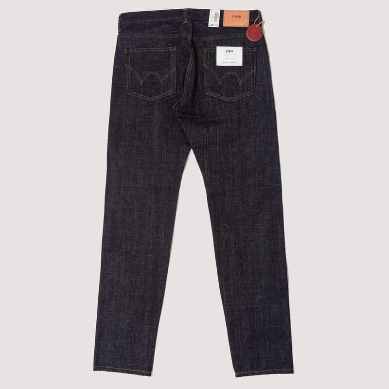 <Reg Tapered Nihon Menpu Open Weave Jeans - Blue Raw State