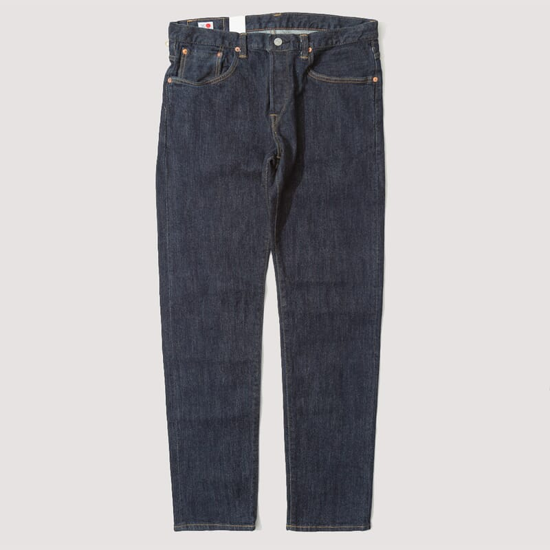 Regular Tapered Nihon Menpu - Blue Rinsed Stretch