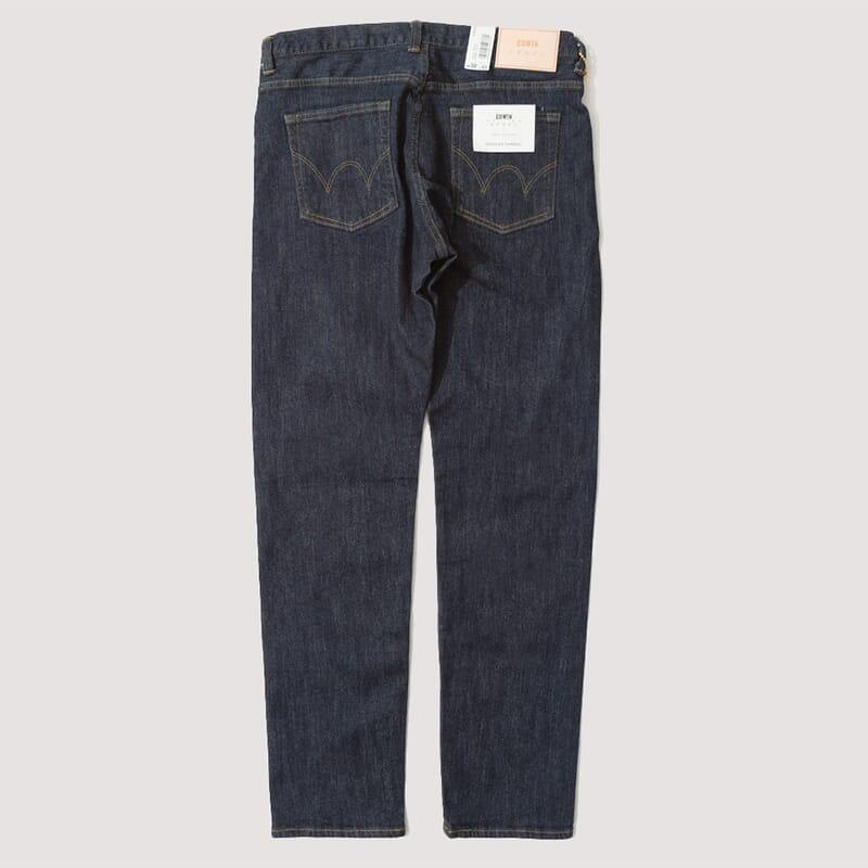 <Regular Tapered Nihon Menpu - Blue Rinsed Stretch