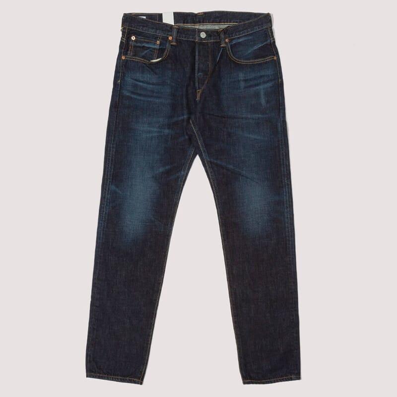Regular Tapered Nihon Menpu Jeans - Dark Pure Indigo Blue