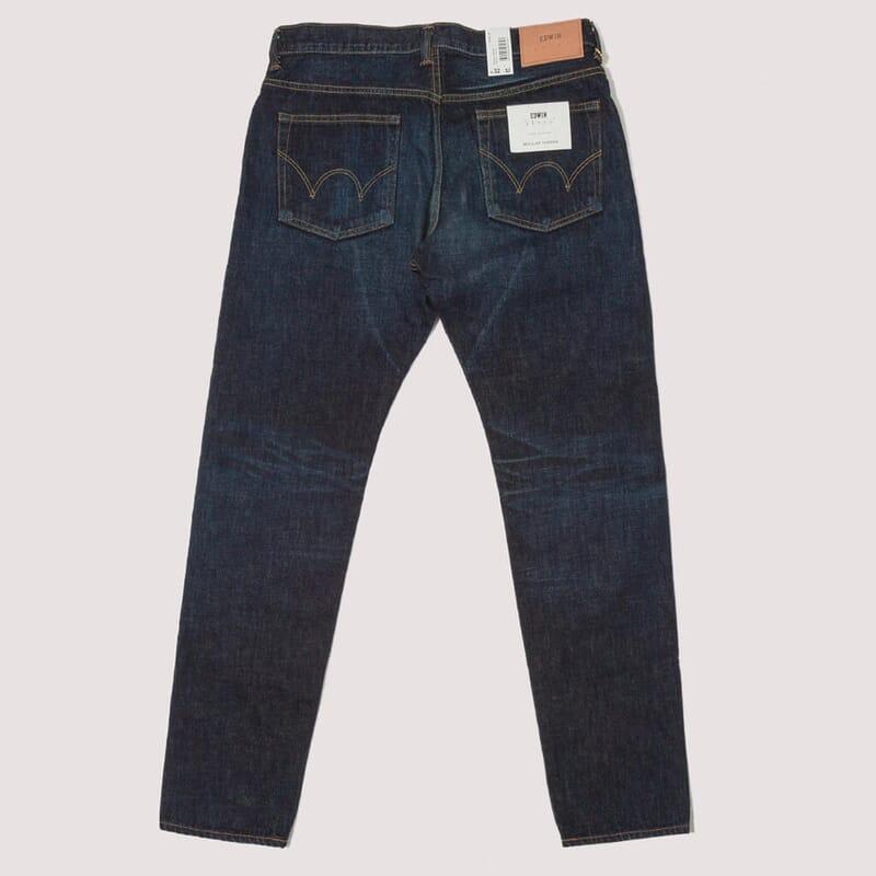<Regular Tapered Nihon Menpu Jeans - Dark Pure Indigo Blue