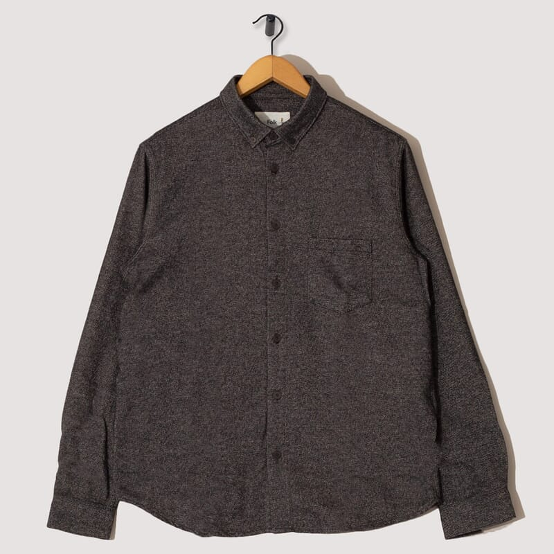 Relaxed Fit Shirt - Black Moss Twill