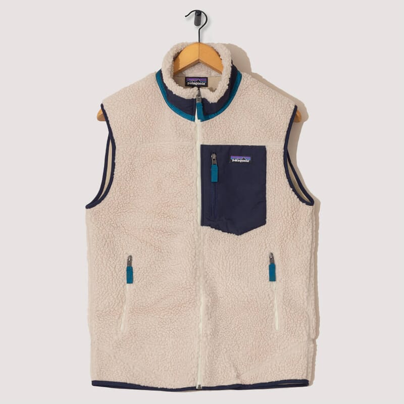Retro-X Fleece Vest - Natural / Navy