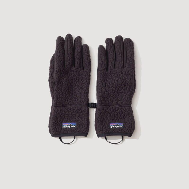 Retro Pile Gloves - Black