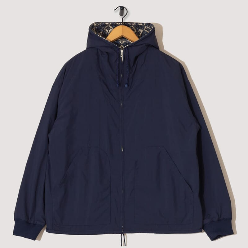 Reversible Hooded Blouson - Navy