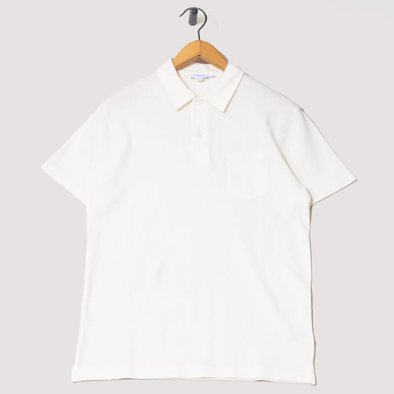 Riviera Polo S/S - Archive White