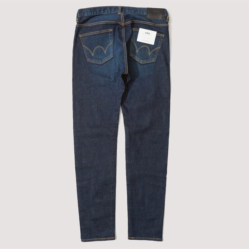 <Slim Tapered Kaihara - Blue Stretch Dark Used