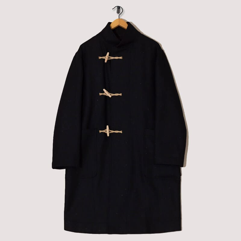 Stand Collar Duffle Coat - Ink