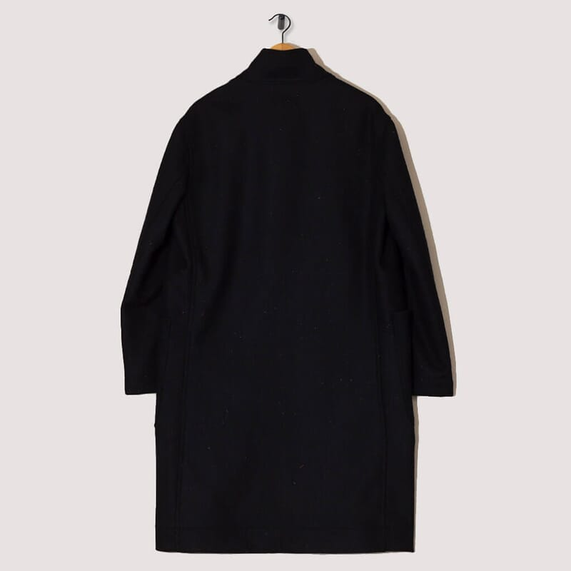 <Stand Collar Duffle Coat - Ink