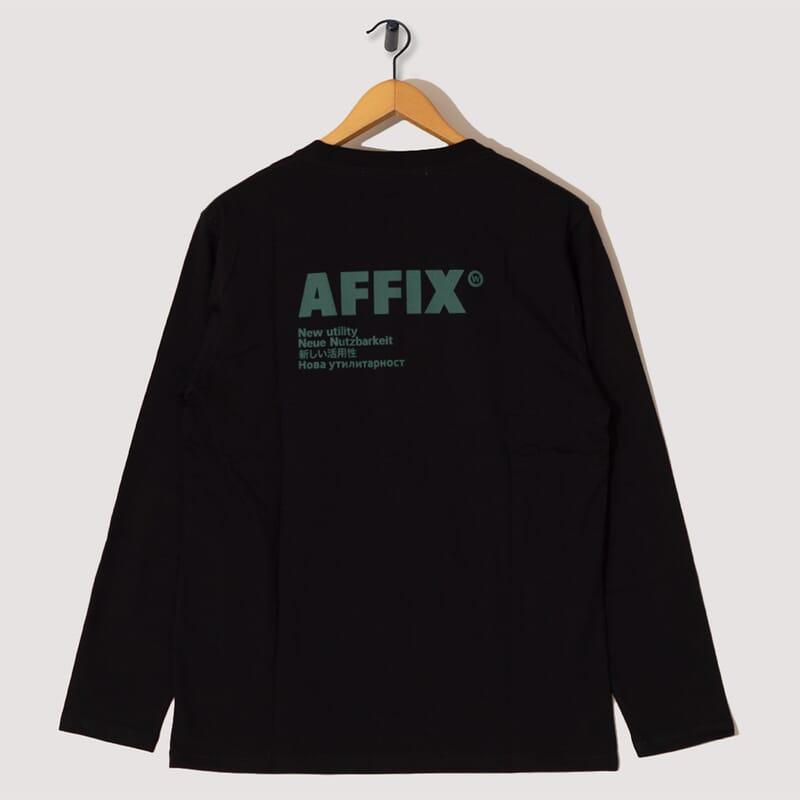 <Standardised Logo Long Sleeve T-Shirt - Black
