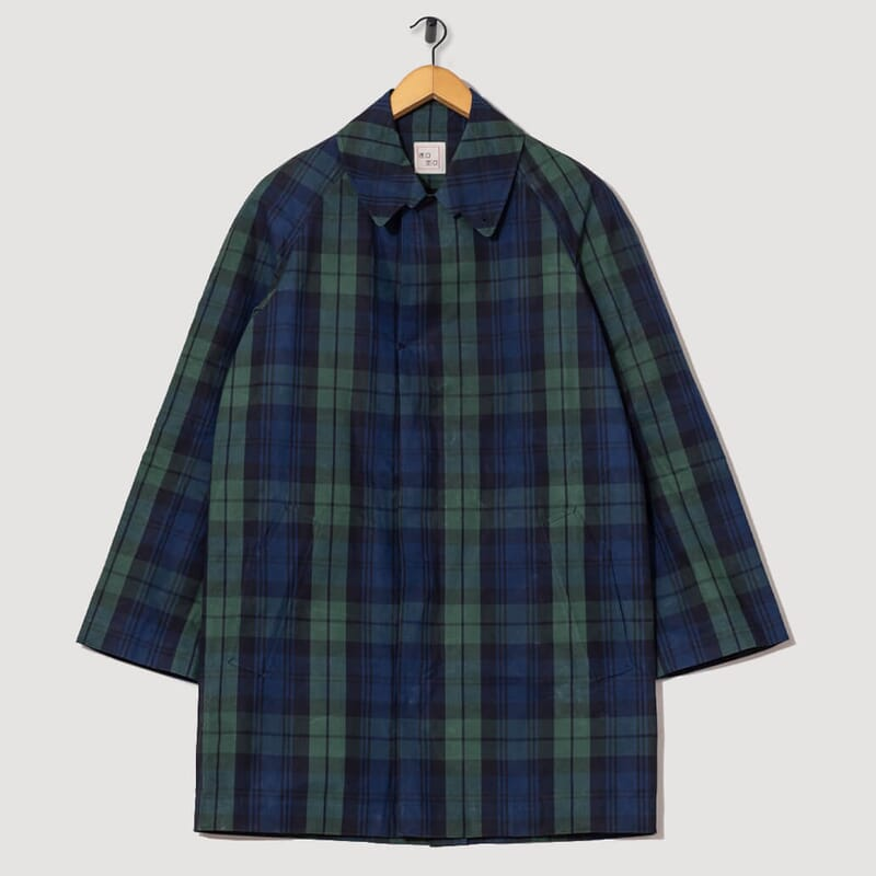 Stepleton Rain Coat Check - Dark Green