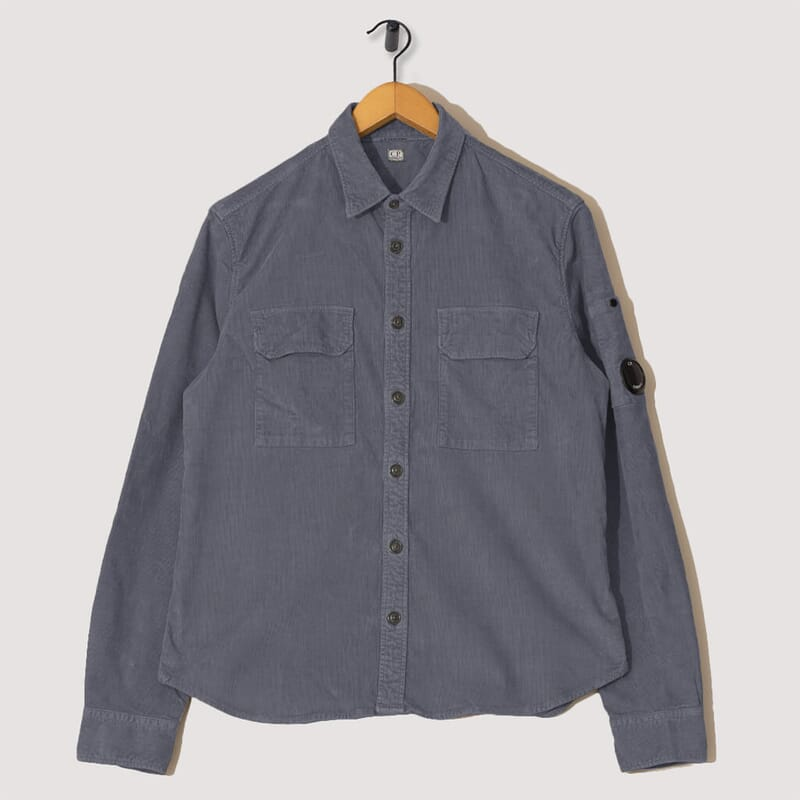 Stretch Corduroy Overshirt - Blue Fog