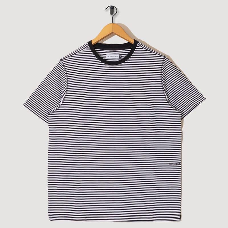 Striped Logo T-Shirt - Black/White