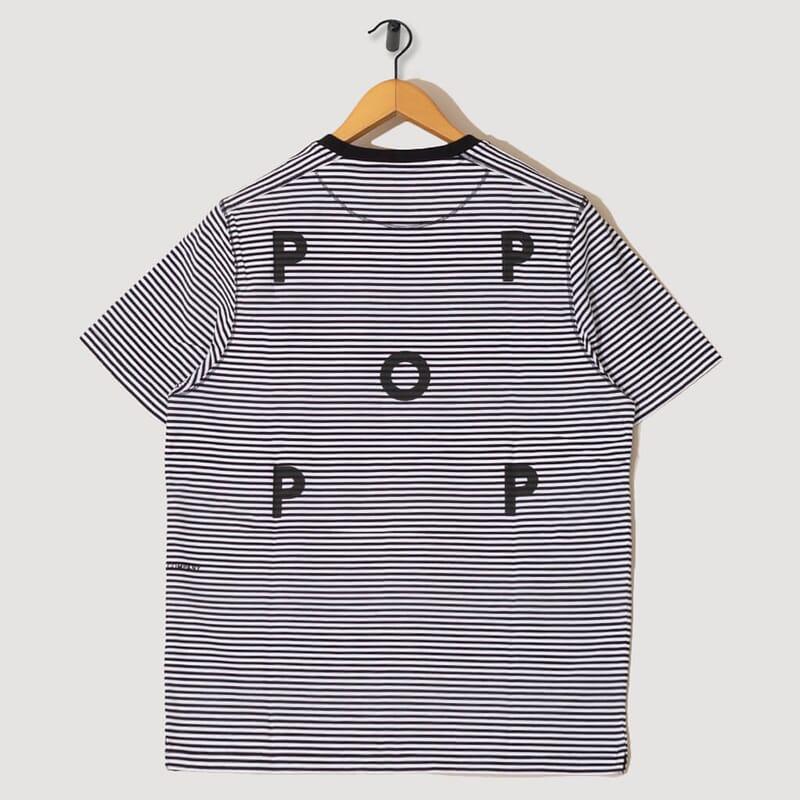 <Striped Logo T-Shirt - Black/White