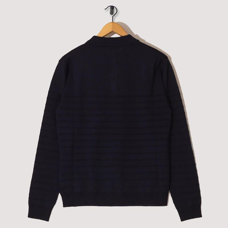 <Sweater Gabier Bordado - Navy