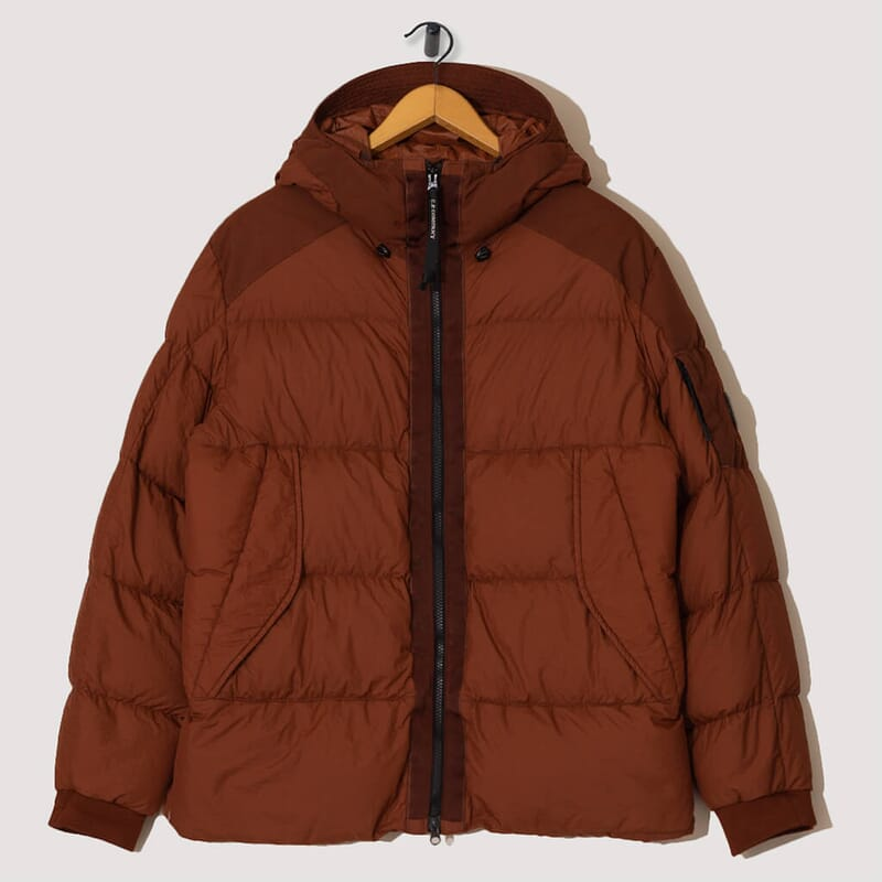 Taylon L Mixed Down Jacket - Cinnamon