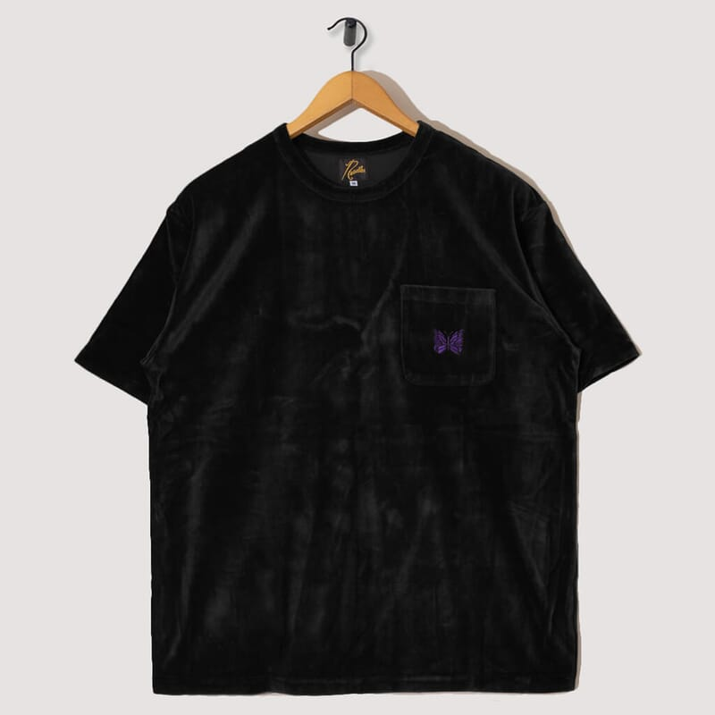 Velour Pocket Tee - Black