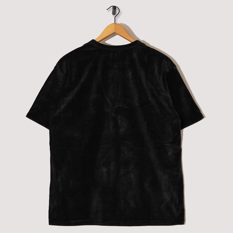 <Velour Pocket Tee - Black