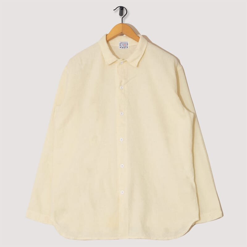 Weaver's Stock Tail Shirt, Wool Miner's Flannel - Cream