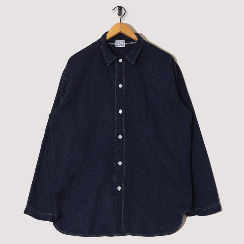 Weaver's Stock Tail Shirt, Wool Miner's Flannel - Navy
