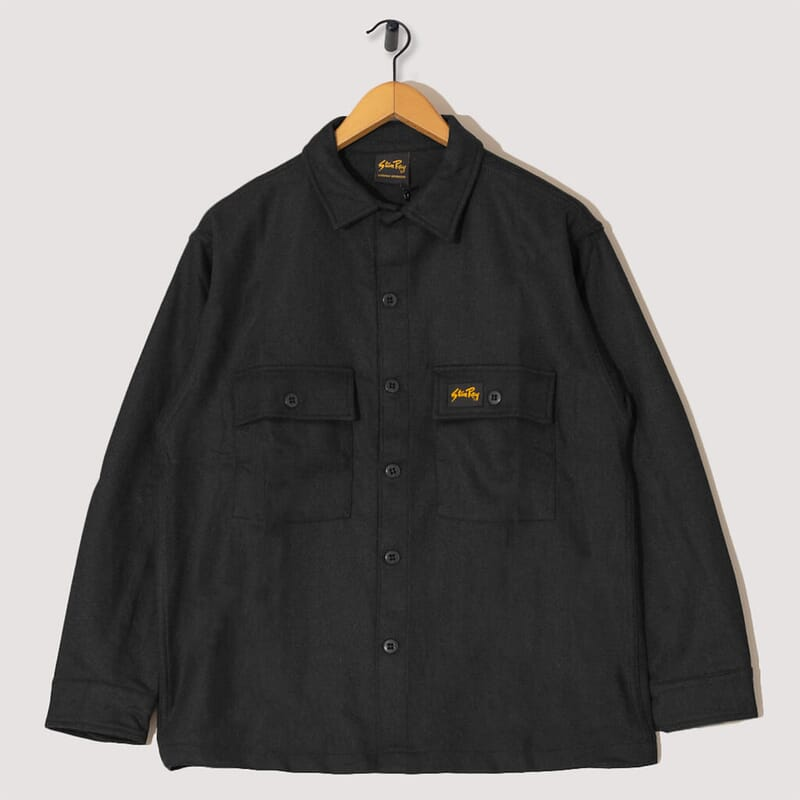 Wool CPO Shirt - Charcoal
