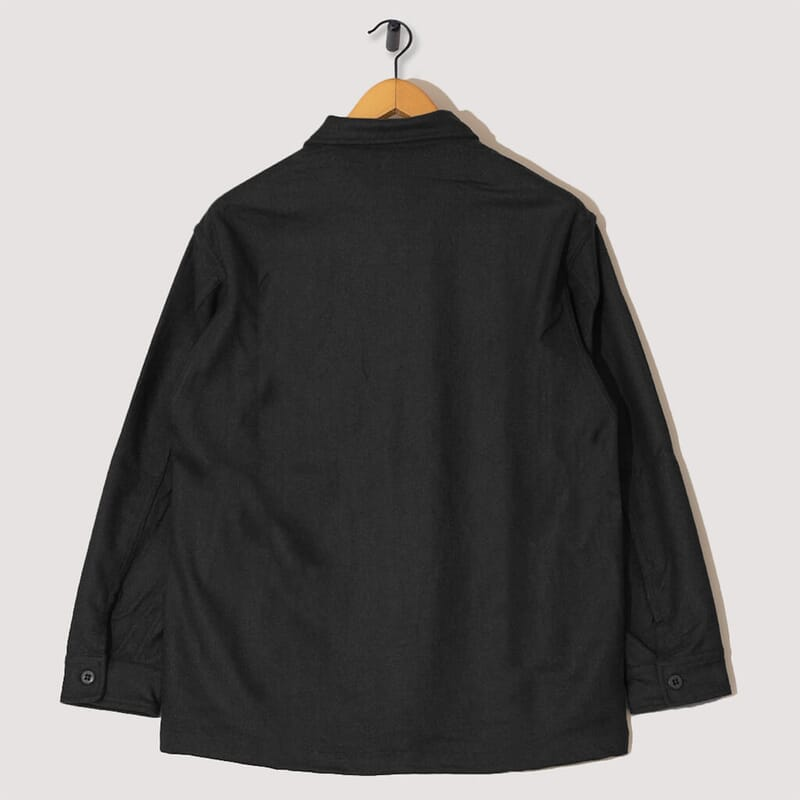 <Wool CPO Shirt - Charcoal