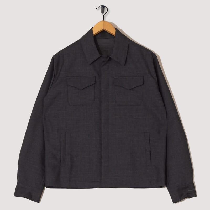 Wool / Mohair Blouson - Charcoal
