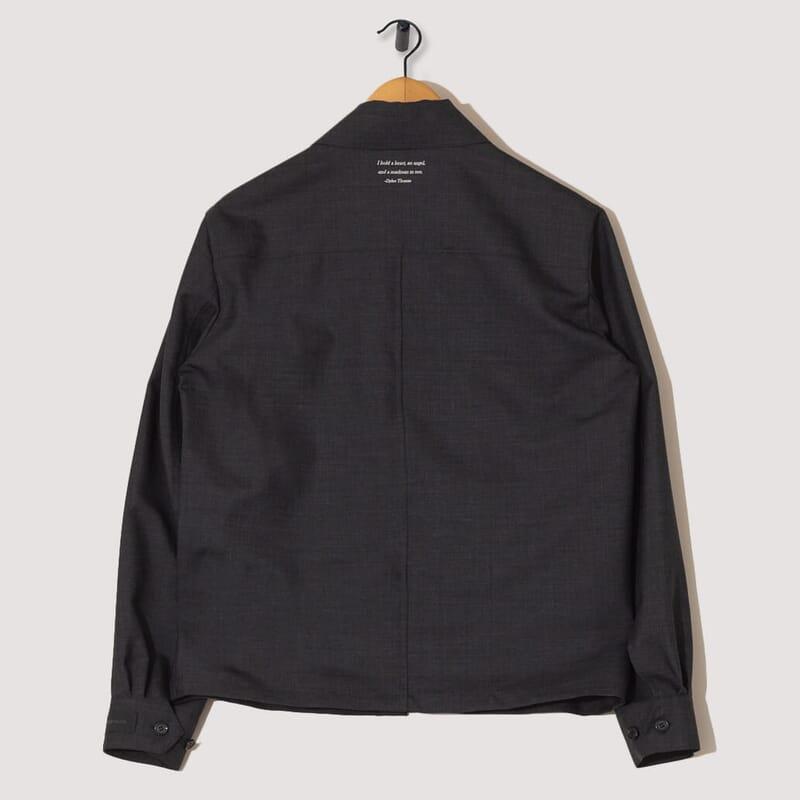 <Wool / Mohair Blouson - Charcoal