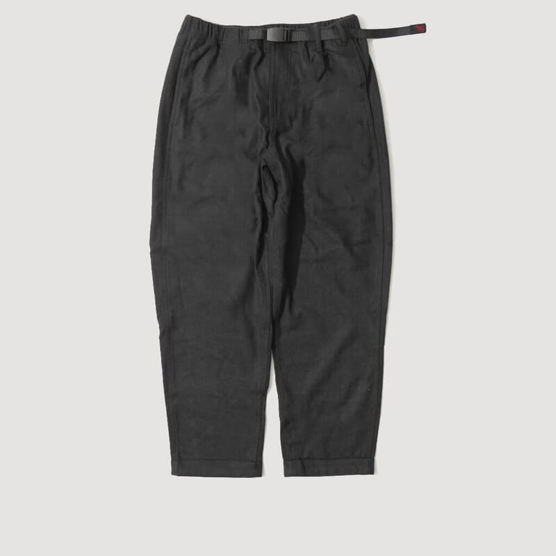 Wool Tapered Pant - Black