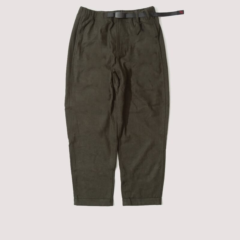 Wool Tapered Pant - Olive