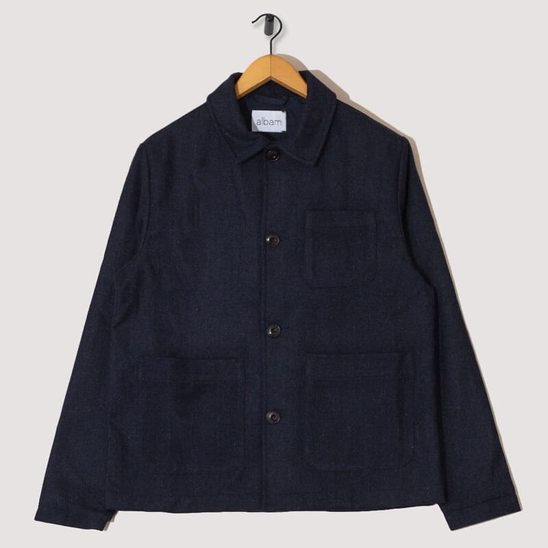 Wool Work Jacket - Navy